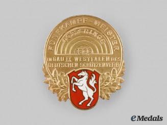 Germany, Third Reich. A 1936 Gau Westphalia Shooting Competition Badge, by Wilhelm Koch