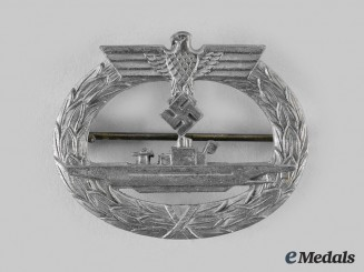 Germany, Kriegsmarine. A U-Boat War Badge, by Friedrich Orth