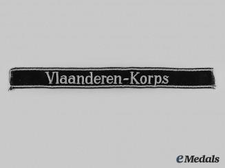Germany, SS. A Rare Vlaanderen Korps Cuff Title