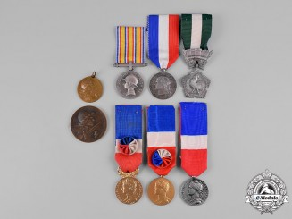 France, Republic. A Lot of Badges & Medals