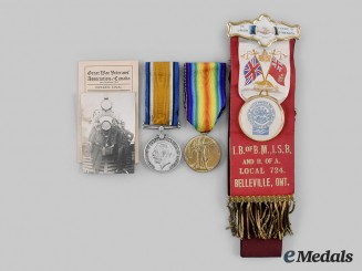Canada, CEF. A Medal Pair, to Private Walter Morris, 47th Infantry Battalion, 80th Infantry Battalion