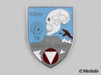 Austria, Republic. A United Nations Disengagement Observer Force (UNDOF), 4th Company, Austrian Battalion Badge 1978