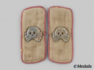 Germany, Heer. A Pair of Tropical Uniform Panzer Collar Tabs