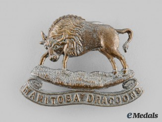 Canada, Dominion. A 12th Manitoba Dragoons Officer's Cap Badge, c.1905