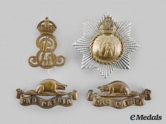 Canada, United Kingdom. Four Badges