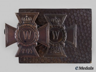 Germany, Imperial. A Patriotic 1914 Iron Cross Box and Document Clip