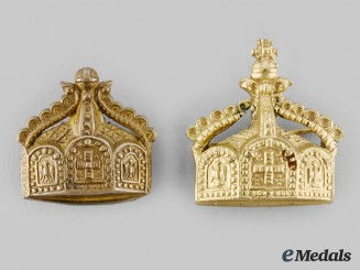 Germany, Imperial. Two Prussian State Crown Badges, c.1900