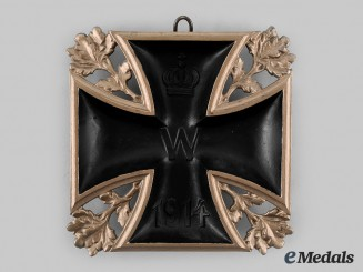 Germany, Imperial. A 1914 Iron Cross Wall Plaque