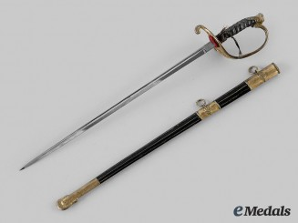 United States. A Miniature United States Naval Officer Model 1852 Sword