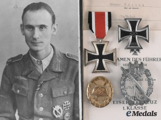Germany, Heer. The Awards and Documents of Gefreiter Edmund Krause, Grenadier-Regiment 9