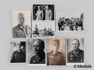 Germany, Heer. A Lot of Photographs of Generalmajor Julius von Bernuth, Knight's Cross