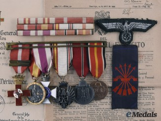 Spain, Facsist State. The Medals and Documents to José Luis Polo Garcia, Blue Division Officer