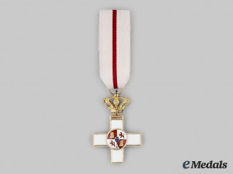 Spain, Kingdom. An Order of Military Merit, I Class Cross, White Distinction, in Gold, c. 1920