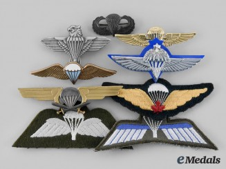 International. A Lot of Nine Parachutist Badges
