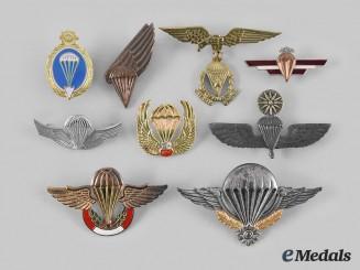 International. A Lot of Nine Parachutist Badges
