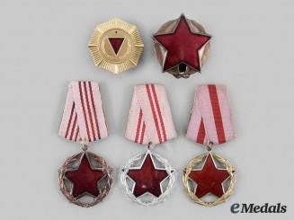 Albania, People's Republic. Five Awards