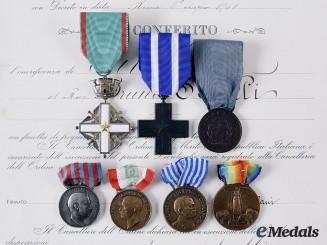 Italy, Kingdom. The Awards & Documents to Lt. Scolli Bruno di Enrico