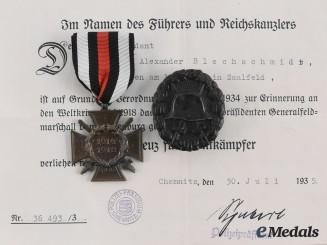 Germany, Imperial. A Lot of Documents & Awards to Harry Alexander Blechschmidt, c. 1925