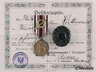 Germany, Weimar Republic. A Lot of Medals, Badges and Documents to Christian Ruttmann
