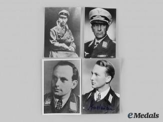 Germany, Wehrmacht. A Lot of Postwar Photographs of Knight's Cross & Pour le Mérite Recipients