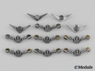 United States. A Lot of Eleven Reserve Officers' Training Corps (ROTC) Badges