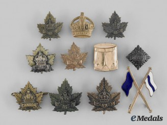 Canada, Commonwealth. A Lot of Eleven First War Insignia
