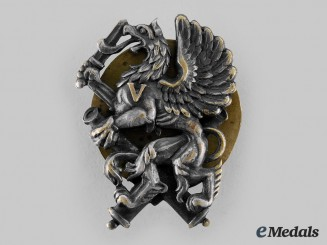 Latvia. An Artillery Military Badge, c.1935
