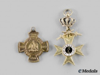 Germany, Imperial. A Pair of Award Miniatures