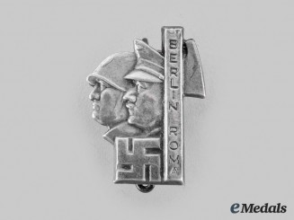 Germany, Third Reich. A Hitler-Mussolini Berlin Roma Pin