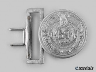 Germany. An SS Officer's Belt Buckle, by Emil Jüttner, Lüdenscheid