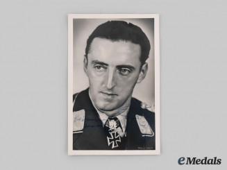 Germany, Luftwaffe. A Wartime Signed Postcard of Hermann Graf