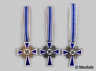 Germany, Third Reich. A Lot of Honour Crosses of the German Mother, All Grades