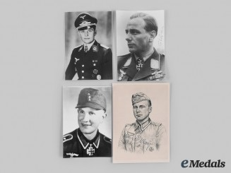 Germany, Wehrmacht. A Lot of Postwar Signed Photographs of Knight's Cross Recipients