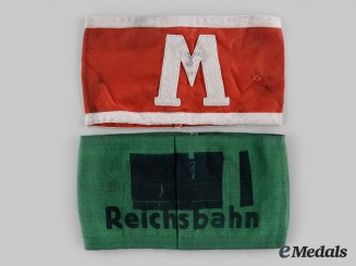 Germany, Third Reich. A Pair of Armbands