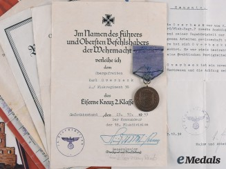 Germany, Wehrmacht. A Lot of Awards and Documents to Karl Overbeck