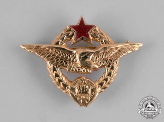 Yugoslavia, Republic. A Pilot's Badge in Solid 18Kt Gold. by IKOM Zagreb