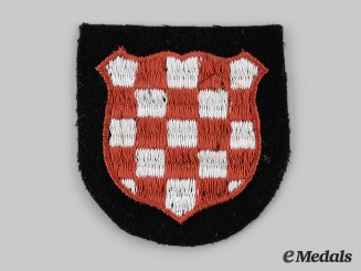 Germany, SS. A Mint and Unissued Waffen-SS Croatian Volunteer Sleeve Shield