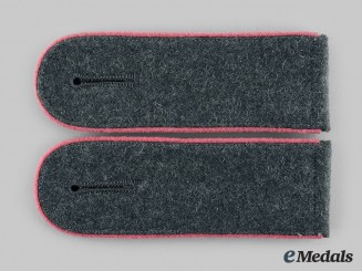Germany, Heer. A Pair of Wehrmacht Panzer Enlisted Man's Shoulder Boards