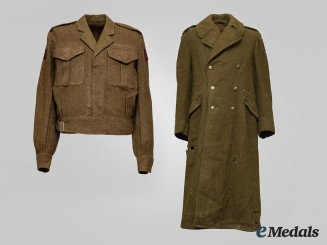 Canada, Commonwealth. An 8th Field Regiment RCA Tunic & Great Coat, 1945