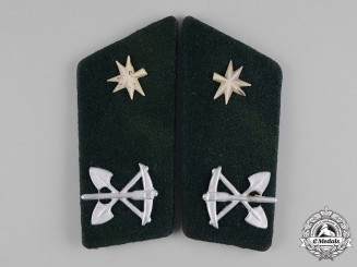 Croatia, Independent State. A Pair of Collar Tabs, Corporal, Engineering Units