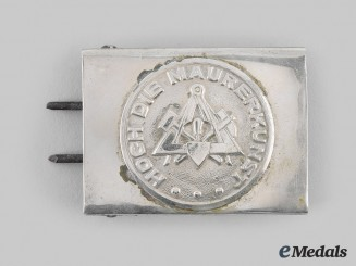 Germany, Third Reich. A High Masonry Belt Buckle