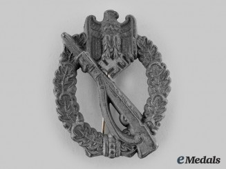 Germany, Heer. An Infantry Assault Badge, Silver Grade, by Unknown Maker