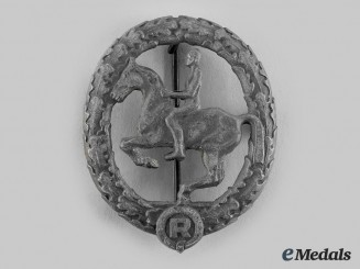 Germany, Third Reich. A German Equestrian Badge, III Class, by Steinhauer & Lück