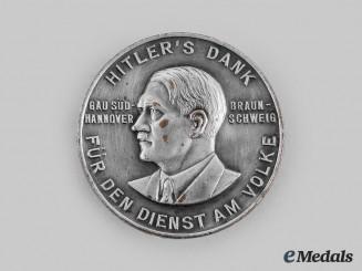 Germany, Third Reich. A Gau Süd-Hannover Braunschweig Führer's Gratitude Badge, by Paulmann & Crone