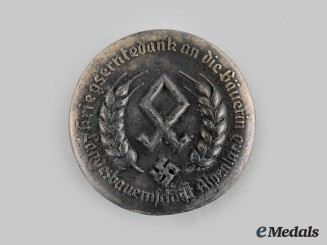 Germany, Third Reich. A Wartime Harvest Female Farmworkers Appreciation Badge