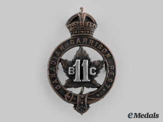 Canada, CEF. A British Columbia Garrison Regiment Officer's Cap Badge