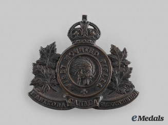 Canada, CEF. A 1st Mounted Rifle Battalion Cap Badge