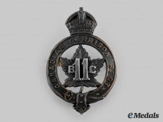 Canada, CEF. A British Columbia Garrison Regiment Officer's Cap Badge