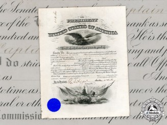 United States. A Spanish-American War Commission Document, Signed by William McKinley, 1898