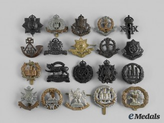 United Kingdom. A Lot of Twenty Cap Badges